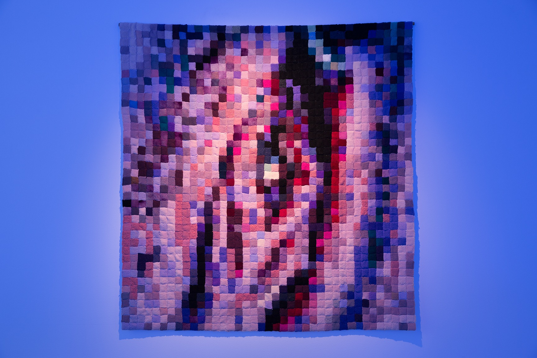 Laura Jordan, Pixelated Clitoris 2000, wool. Photo by Simon Hewson